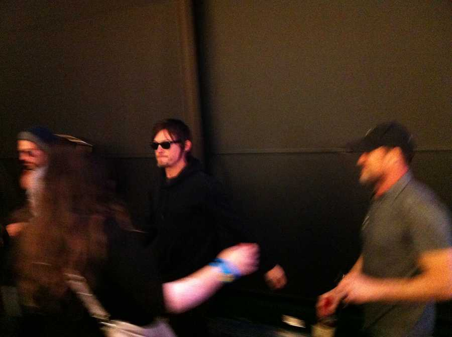 "Jon Bernthal, Michael Rooker, and Norman Reedus appear for a panel on ""The Walking Dead."""