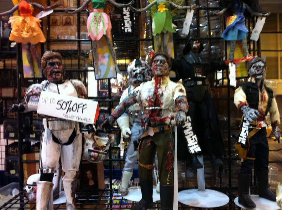 Fans could purchase zombi-fied characters of comic books and films.