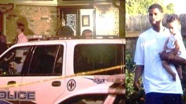 Left: the scene at a New Orleans East home after a deadly officer-involved shooting on April 9, 2010. Right: Brian Harris