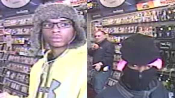 Police are looking for the two people (pictured above) in connection with the armed robbery of the Gamestop on St. Andrew Street in Uptown Thursday.