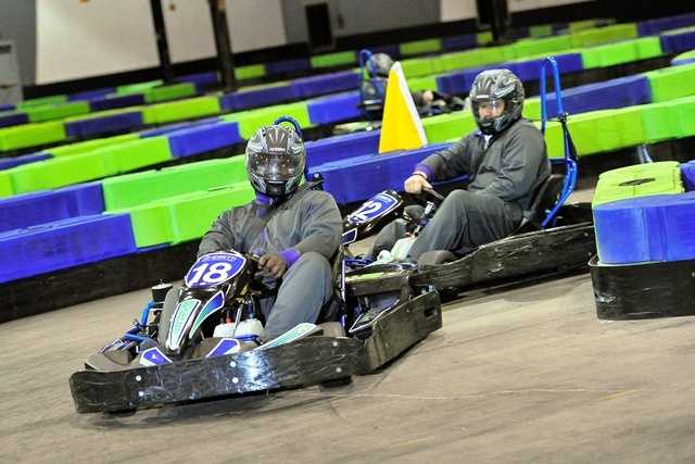Both LSU and Clemson took part in the races at the Andretti go-cart facility... a prelude to their matchup on the field.