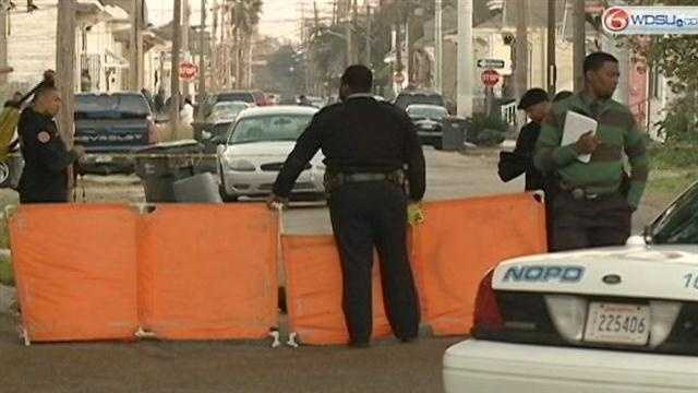 New Orleans police superintendent touts the decline in the city's murder rate for 2012.