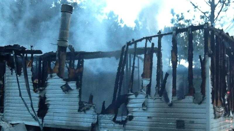 A home near Covington was destroyed in an early-morning fire on Friday.