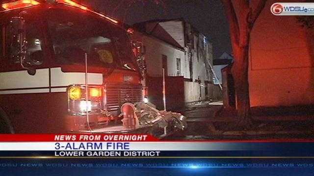 NOFD investigating 3-alarm fire in Lower Garen District