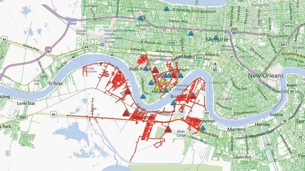 Jefferson Parish power outage