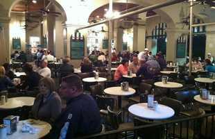 And at Cafe du Monde . . .