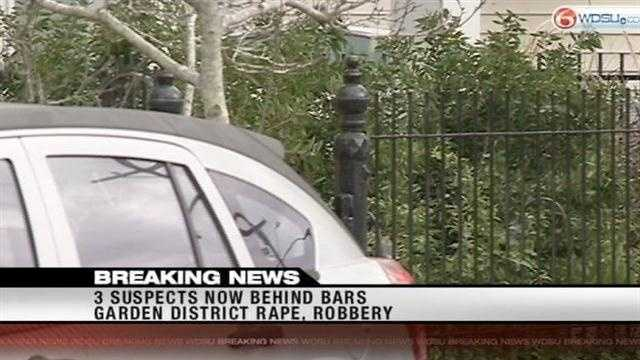 New Orleans police say all three suspects in the Garden District kidnapping, rape and robbery.