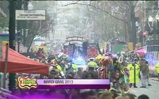 Mard Gras 2013 is under way.