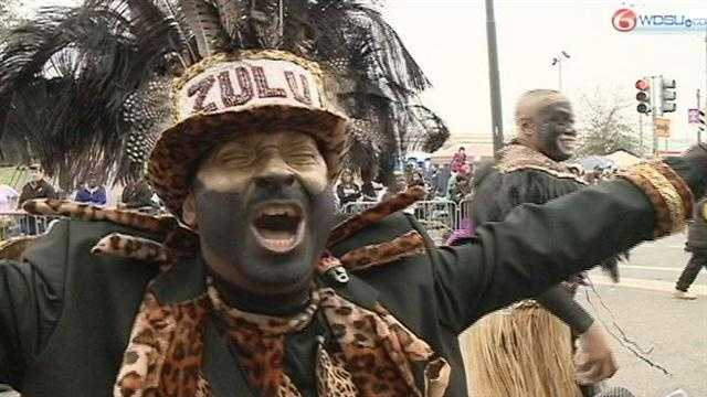 The Krewe of Zulu gets Mardi Gras 2013 started