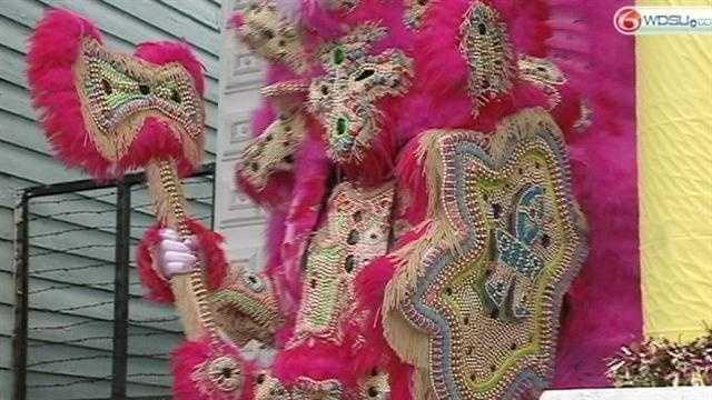 Mardi Gras Indians strut through Treme