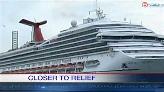 After docking in Mobile, some passengers aboard the Carnival Triumph will be bused to New Orleans.