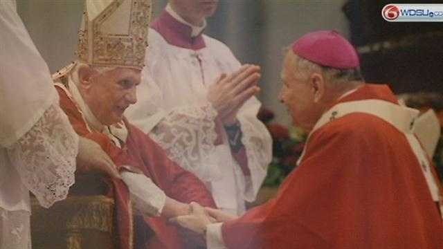 Archbishop Gregory Aymond gives his reaction to the resignation of Pope Benedict XVI.