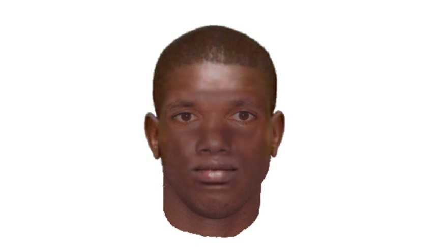 Police released this composite sketch of one of the four men sought in a robbery that happened in the CBD Wednesday morning.