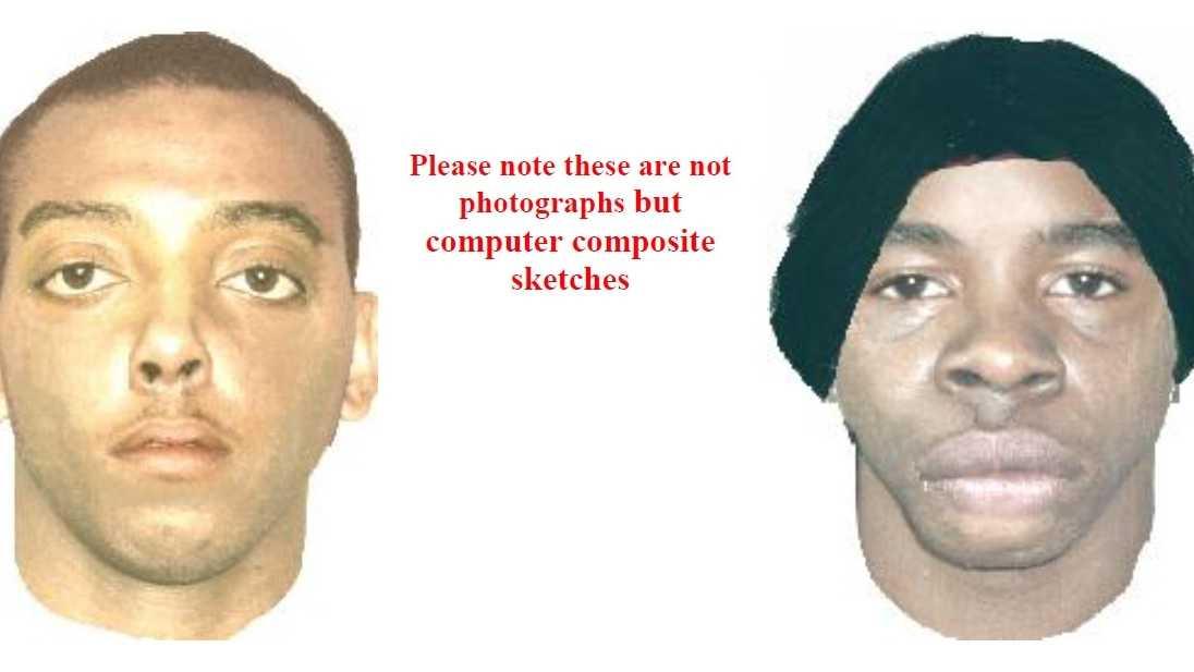 Two men wanted in rape