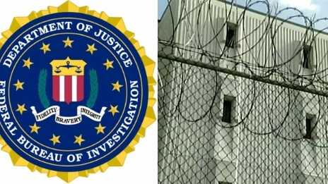 FBI logo and Orleans Parish Prison