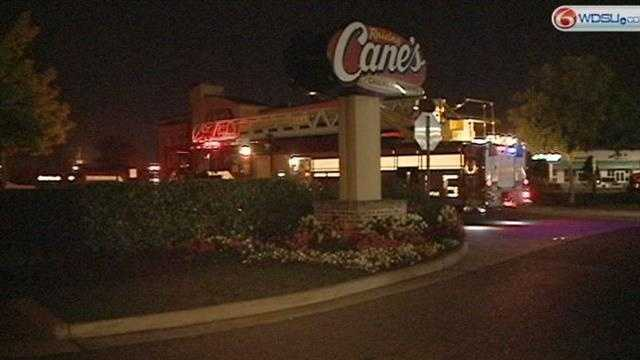 Raising Canes customers and employees react to Friday evening's fire.