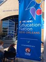 "In an effort to continue the national conversation about how to help prepare America's students for success, NBC News and WDSU has brought""Education Nation On-The-Road"" to New Orleans Friday."