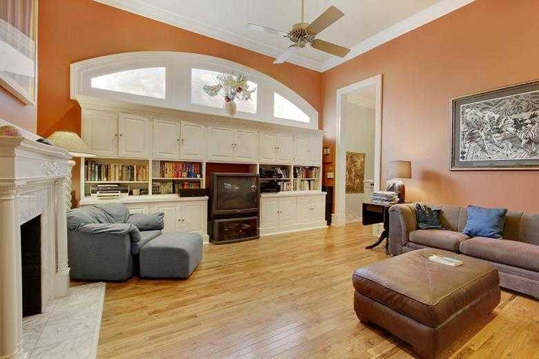 Den/Family/Great Room: Upstairs den with custom window & built-ins, wood floors & fireplace mantel.