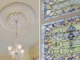 Other:  Many custom architectural details such as stained glass, medallions, moldings, pocket doors, marble & wood mantels & floors, etc.