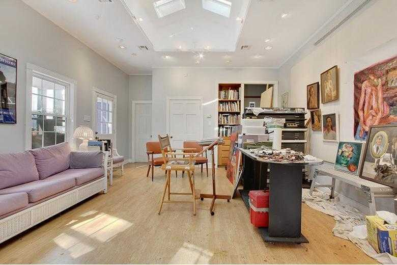 Other: Studio/Cabana interior. Skylights, wood floors, built-ins & a full bath. Great for parties.