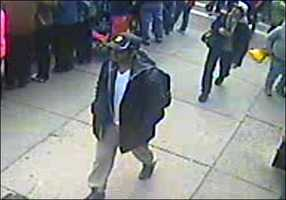FBI Special Agent in Charge Richard DesLauriers described images that he said show two suspects in the blasts.