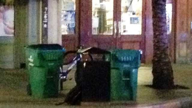 A backpack or tote bag left unattended prompted police to cordon off part of Canal Street late Thursday.