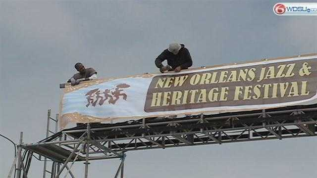 Crews are working overtime to make sure the Jazz Festival opens Friday.