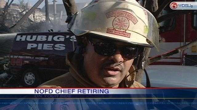 The New Orleans Fire Department is apparently looking for a new chief to replace Charles Parent.
