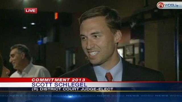 Scott Schlegel beat Hilary Landry for the 24th Judicial District Judgeship Saturday