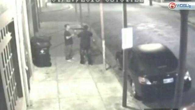 The man caught on surveillance video taking the gun from a would-be robber talks about what he was thinking at the time.