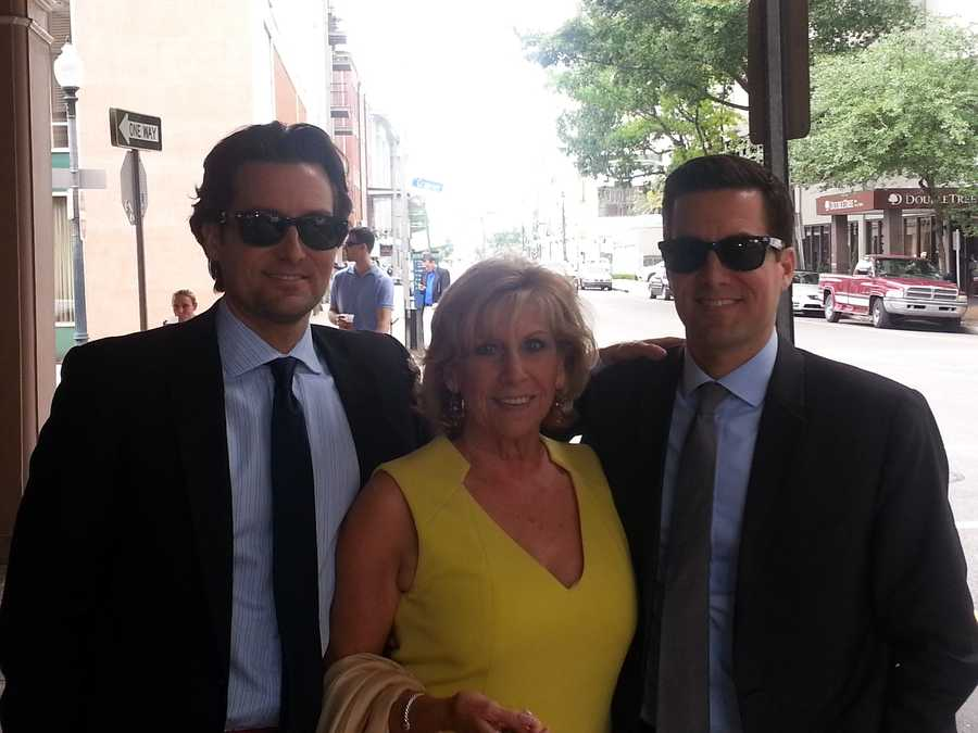 Travers and Fletcher Mackel with their mom