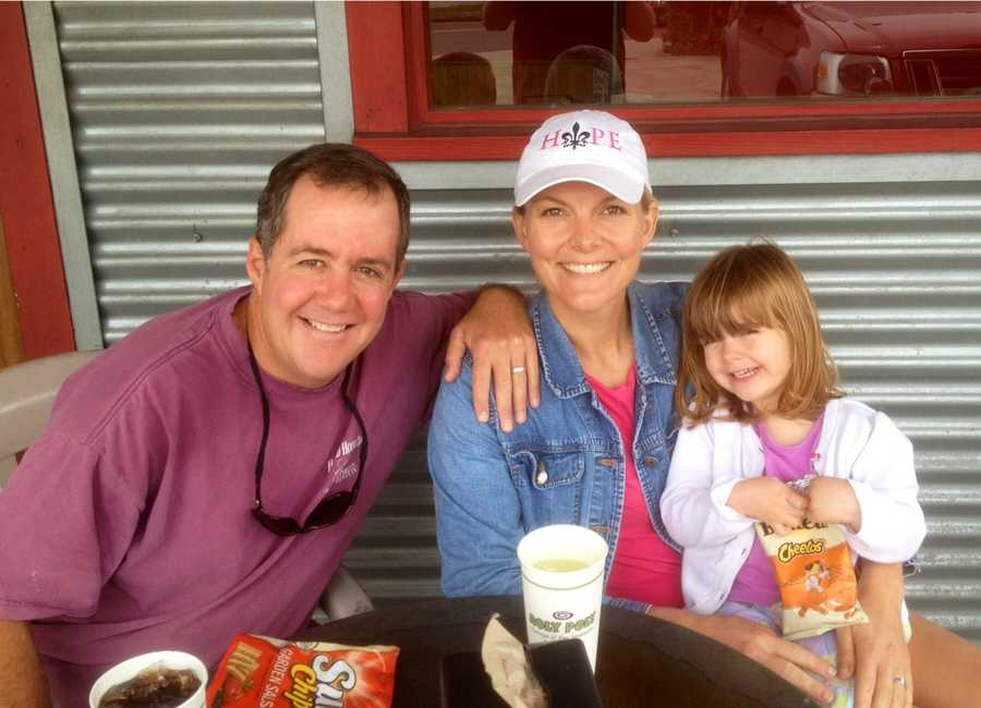 Rachel Wulff with her husband and daughter