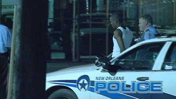 March 16: Akein Scott arrives at the Orleans Parish Prison. He is silent as he enters the facility. Watch video