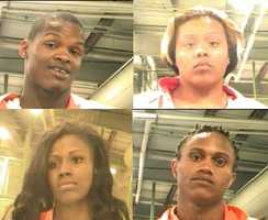 March 16: Police announce the arrest of a second suspect, who is also Akein Scott's brother -- Shawn Scott. Four other people were arrested on charges of harboring Akein Scott. (pictured: Akein Scott, Bionca Hickerson, Brandy George, Justin Alexander) (Not Pictured: Nakia Youngblood and Shawn Scott). Read story