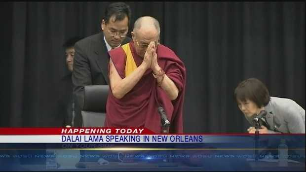The Dalai Lama kicks off his visit to New Orleans with a speech Friday at the city's convention center.