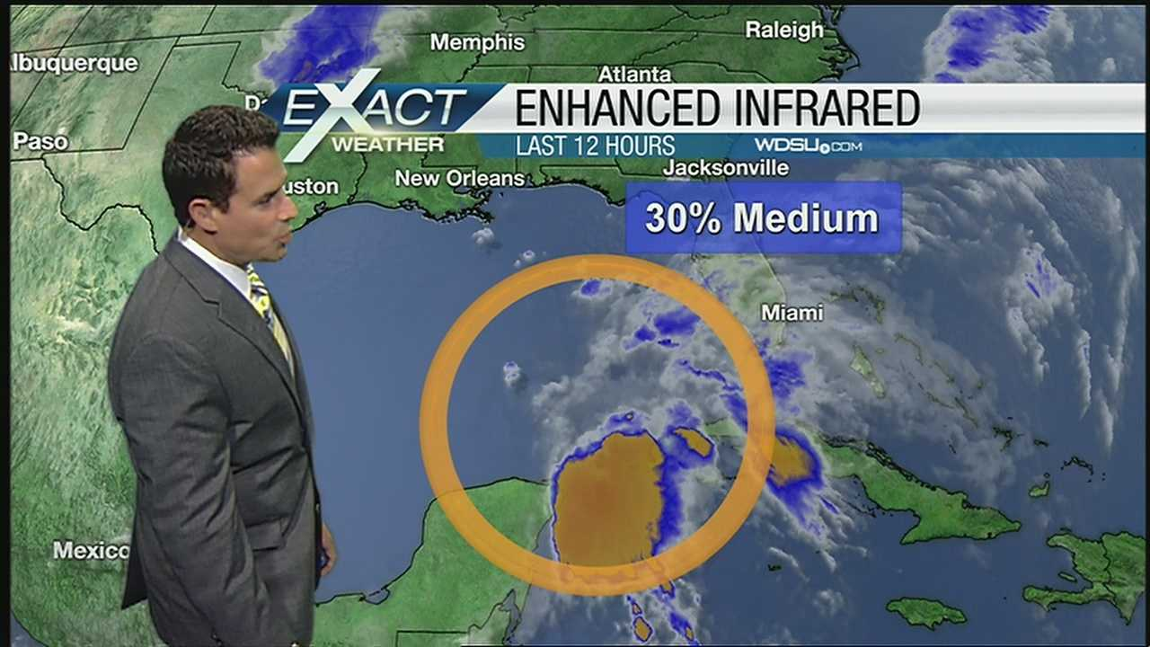 NWS gives system in Gulf a 30 percent chance of becoming a tropical system.