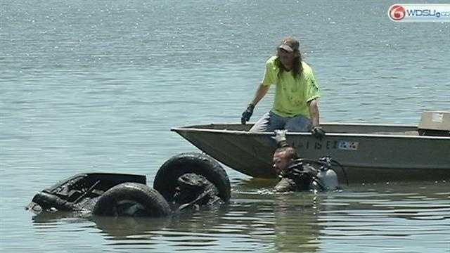 Diver found the black Honda in Bayou St. John Saturday.