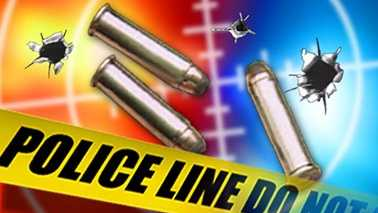 Shooting bullets police tape generic