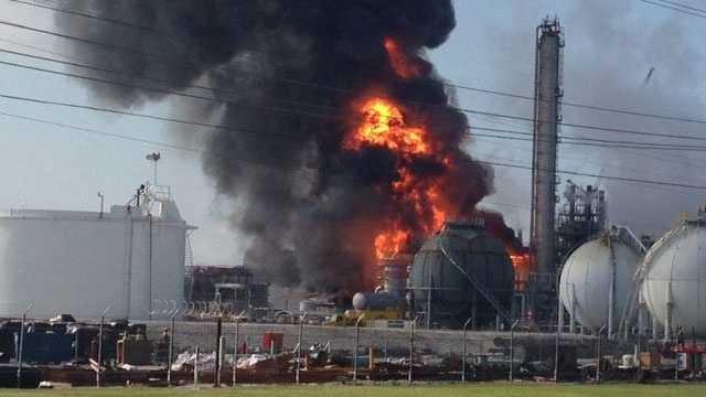 Louisiana chemical plant fire