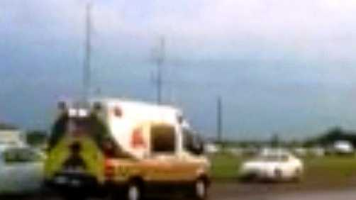 An ambulance rushes from the scene of a deadly accident at the CF Industries plant in Donaldsonville.