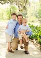 Anchor Scott Walker with his children