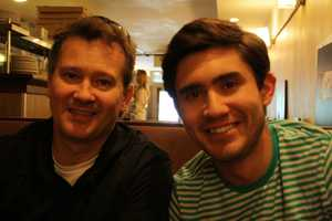 Reporter Blake Hanson and his dad