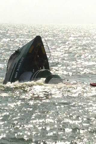 A boat carrying 20 people struck a rig Friday morning 15 miles west of Southwest Pass, the Coast Guard told WDSU.