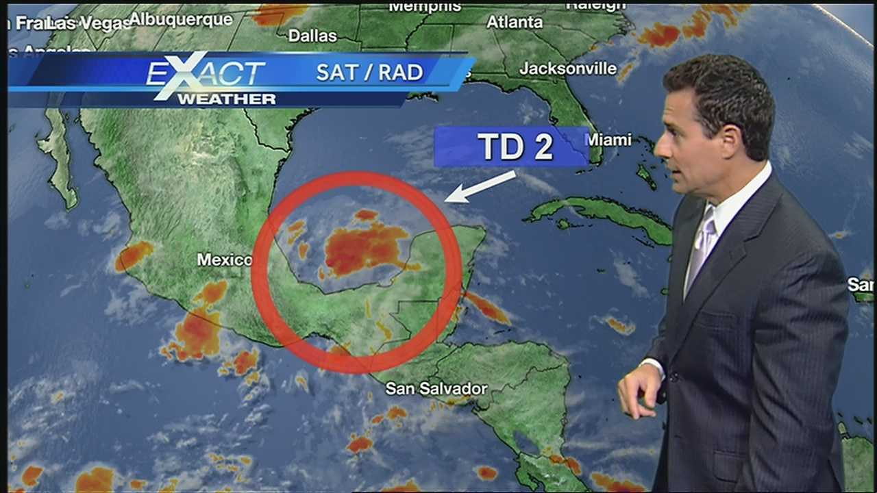 NWS expects Tropical Depression No. 2 to become tropical storm before making landfall again.