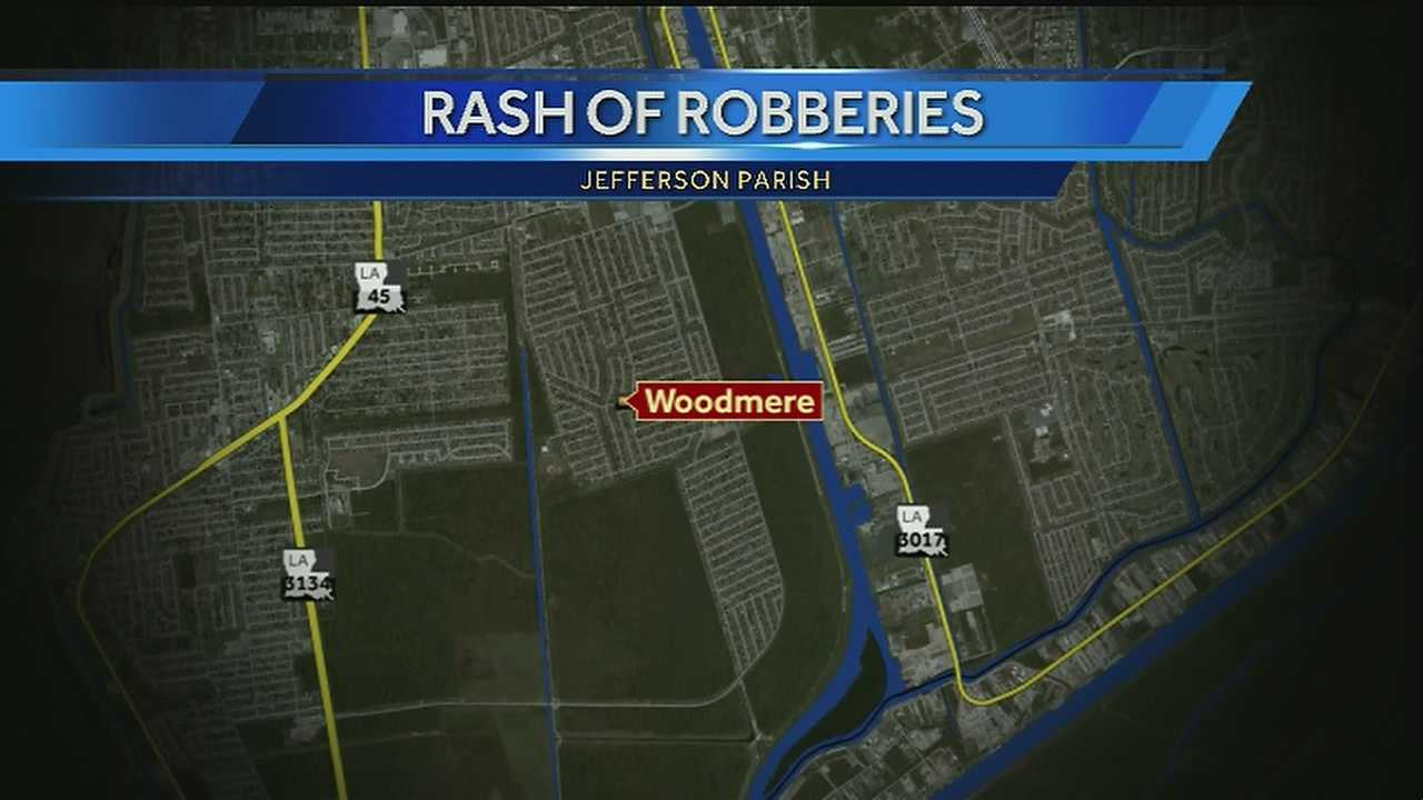 In the past two weeks, the Jefferson Parish Sheriff's Office has investigated five armed robberies.