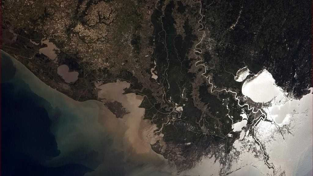 Chris Hadfield, a Canadian astronaut, posted this photo to Twitter in May of Louisiana's coast from the International Space Station.
