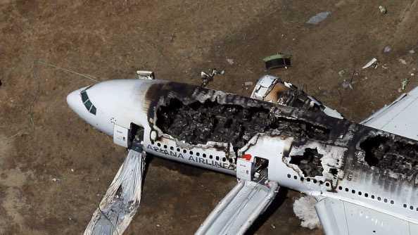 San Fran plane crash ground shot