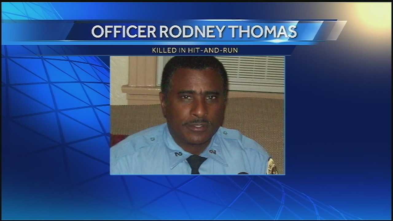 Co-workers describe Officer Rodney Thomas's 8 years on the force.