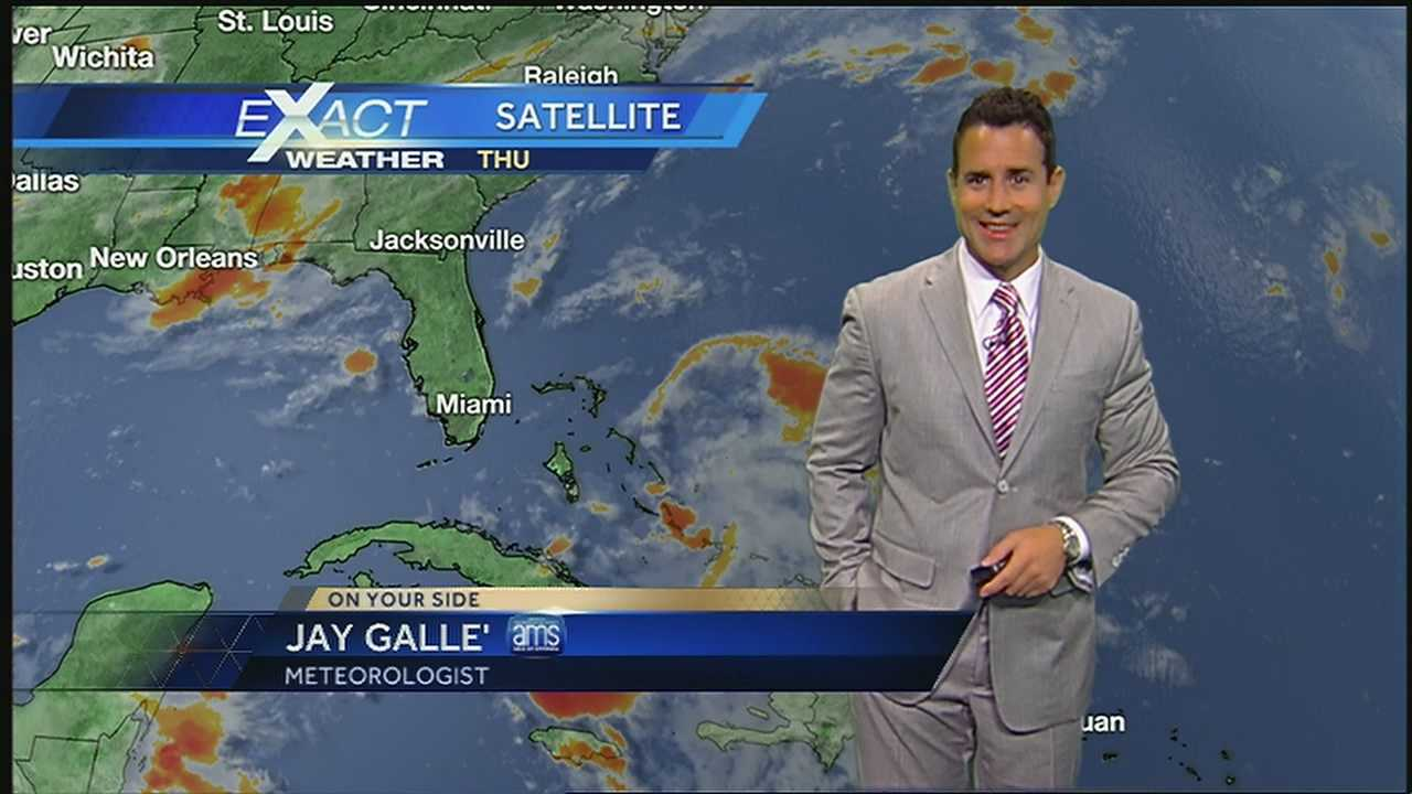WDSU Exact Weather meteorologist Jay Galle has the latest on the tropics.