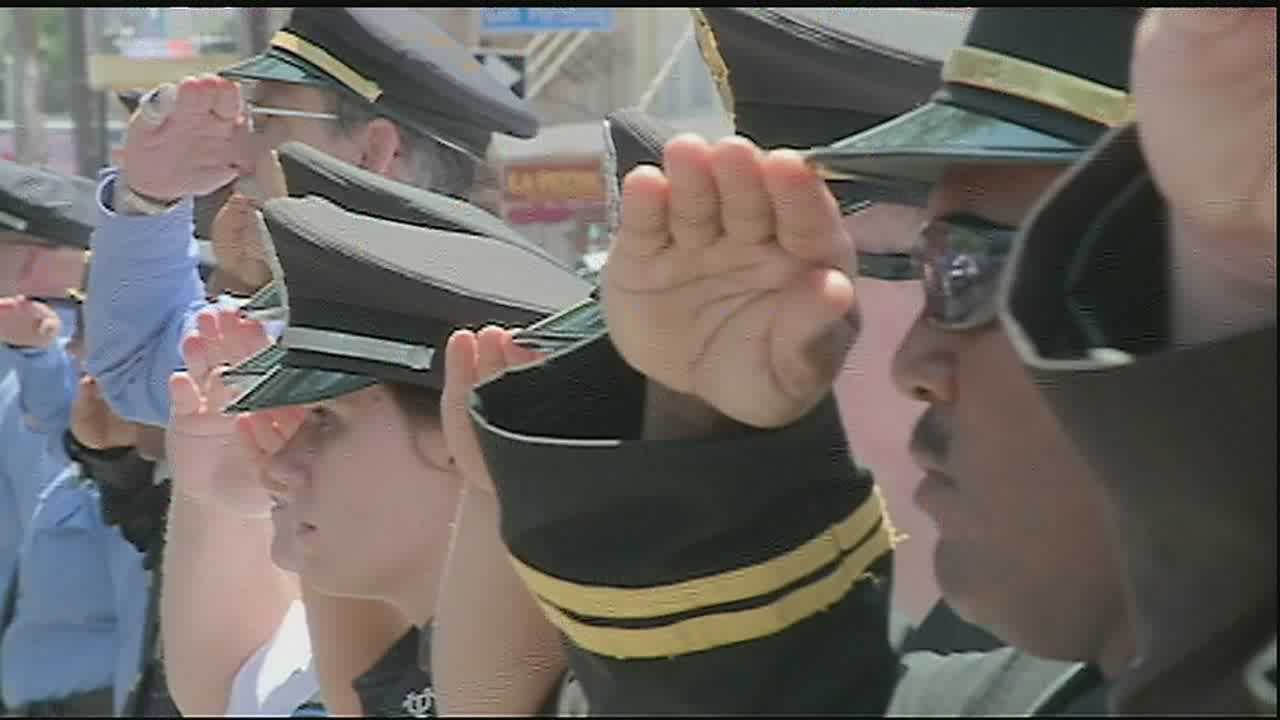 The NOPD gave Officer Rodney Thomas a hero's sendoff Friday.